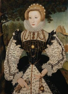 Unknown woman, formerly known as Mary, Queen of Scots  by Unknown artist oil on panel, transferred to canvas, circa 1570