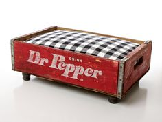 Dr Pepper Luxury Vintage Pet Bed for Small Cats or Dogs by Charlie Hearts Diesel on Etsy