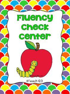 FREE Fluency Check Center - K-5 Common Core