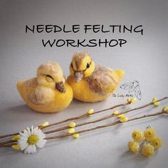 Crochet Projects Needle felted ducklings - there are still spaces available for my sleeping duckling workshop on 18 February, Cambridge UK Felt Crafts, Fabric Crafts, Felt Bunny, Easter Bunny, Needle Felting Tutorials, Felt Fairy, Felt Birds, Needle Felted Animals, Felt Ornaments