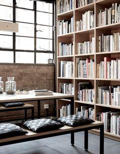 Modern home library design Wall Studio Selfdesigned Office Inside Former Metal Workshop Is Inspired By Toolbox 2modern Modern Home Libraries Pinterest 100 Best Modern Home Libraries Images Home Libraries Bureaus Desk