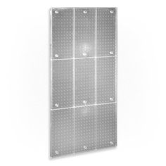 Azar 700248-CLR Clear Frosted 24-Inch W by 48-Inch H Pegboard Wall Panel by Azar. $56.99. From the Manufacturer                Azar's 700248-CLR 24-Inch W by 48-Inch H frosted clear wall panel mounts to any flat surface. This panel is injection molded creating a single plastic unit that is strong and flexible. This panel measures 24-Inch by 48-Inch (but can be used as 48-Inch x 24-Inch) and offers independent mounting holes (hardware not included).                   ...