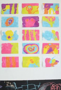 Make Colored Sand Art Stickers. Gorgeous process art for kids.
