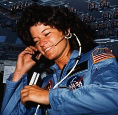 Sally Ride | Sally Ride aboard the space shuttle Challenger