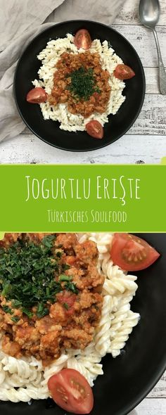 Nudeln, Knoblauch, Joghurt, Hackfleisch und Tomate - dieses türkische Gericht hat alles was echte Soulfood braucht! Turkish Recipes, Ethnic Recipes, Jamie Oliver, Bastilla, Pesto Pasta, World Recipes, Yams, Pasta Recipes, Yummy Recipes