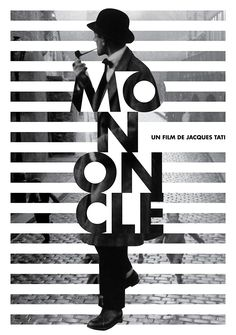 Mon Oncle Movie Identity on Behance poster design Graphic Design Posters, Graphic Design Typography, Graphic Design Illustration, Graphic Design Inspiration, Typography Ads, Graphic Design Trends, Poster Designs, Modern Graphic Design, Art Designs