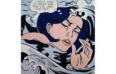 Roy Lichtenstein, Drowning Girl (1963)