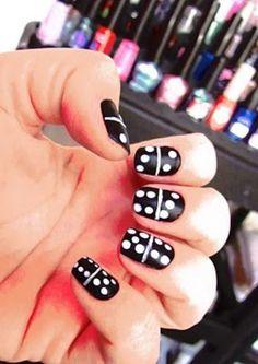 Domino nails (30 unique nails photos)
