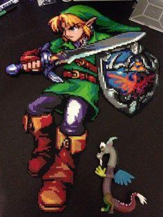 Legend of Zelda Large Link Perler by Perler-Pony.deviantart.com on @deviantART