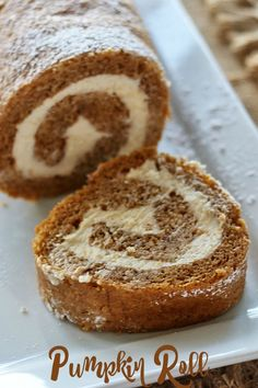 Pumpkin Roll there's nothing better than this classic recipe from #Libbys Filled with a cream cheese filling!  #SundaySupper: