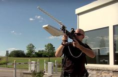 Unlike anti-drone shotgun shells, the DroneDefender is quite harmless to things that aren't drones. It uses radio control frequency disruption technology to mess up the drone pilot's ability to control the device. Using the DroneDefender is extremely easy: simply target the drone through the built-in sight, and the rifle will force the drone to land from up to 400 meters away.