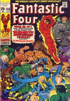 "Fantastic Four vol. 1 # 100, ""The Long Journey Home!"" (July, 1970). Cover by Jack Kirby & Joe Sinnott."
