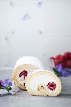 ... raspberry swiss roll with curd filling ...