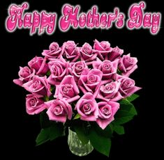 happy mothers day roses pictures images | Happy Mothers Day Pink Flowers Wish « E-Greetings And Graphics For ...