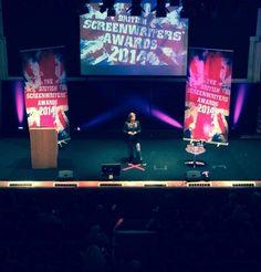 Comedien Rhona Cameron hosts the inaugural British Screenwriters' Awards
