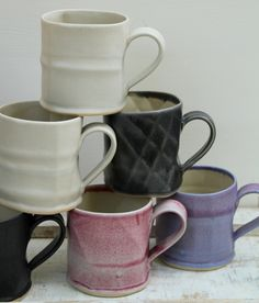 b8155bf93f1 beautiful mugs by Laurie Goldstein Pottery Workshop