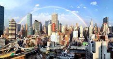 Perfect Rainbow over Manhattan