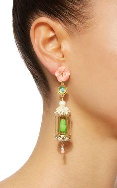 Aviary 18K Gold Vermeil Multi-Stone Earrings by OF RARE ORIGIN Now Available on Moda Operandi
