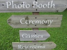 Directional Wedding Signs on a stake  Rustic wedding sign for Beach Wedding, Destination Wedding, Outdoor Wedding, Vintage
