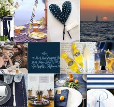 Nautical Navy White Inspiration Board-Camille Styles Events