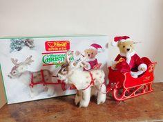 Steiff Friends of Christmas Santa Reindeer Sleigh 0118/17