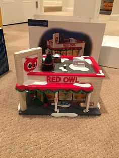 Dept56 Snow Village Red Owl Grocery Store 55303 | eBay Red Owl, Vintage Stores, Grocery Store, Snow, House, Ebay, Vintage Shops, Vintage Storage, Haus