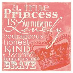 like this much better than many of the 'princess' quotes #trueprincess #bedroom #decor #girls
