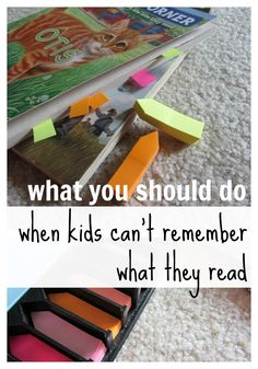 This Raise a Reader blog highlights some things you can do to help your child remember what he reads.