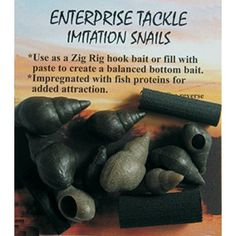 Imitation Snails made in Bedfordshire and supplied by Ringwood Tackle in Hampshire Fishing Equipment, Sports Equipment, Made In Uk, Snails, Hampshire, How To Make, Fishing Rigs, Snail, The Hampshire
