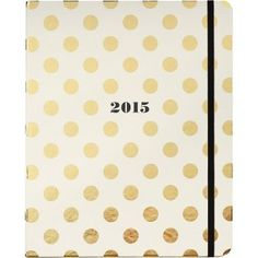 Kate Spade, 2015 Gold Dots Academic Agenda, $36 via Paper Source