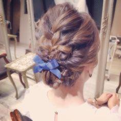 編み込みボブアレンジ♥︎ Braids, Braid Hair, Braided Hairstyles, Hair Styles, Alice, Wedding, Beauty, Fashion, Bang Braids