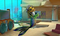 """Have you ever noticed how much Will Smith and Renee Zellweger resemble fish? Neither did we, until Dreamworks """"fishified"""" the actors into Oscar and Angie for the animated movie """"Shark Tale. Dreamworks Movies, Dreamworks Animation, Disney And Dreamworks, Animation Film, Ocean Art, Ocean Life, Disney Princess Movies, Nyan Cat, Movies"""
