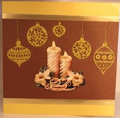 Jettescraftcorner: Golden Brown Candle X-mas Card Brown Candles, Golden Brown, Cards, Home Decor, Maps, Interior Design, Home Interior Design, Home Decoration, Decoration Home