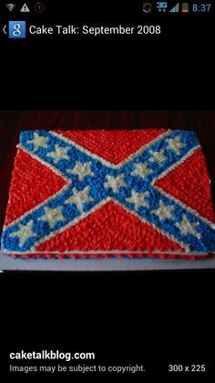 Rebel Flag cakepins.com