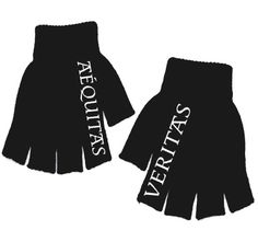 Boondock Saints - Veritas Aequitas Fingerless Gloves! Black fingerless gloves with Veritas/Aequitas written on the finger just like the McManus Brothers Tattoos in the movie!