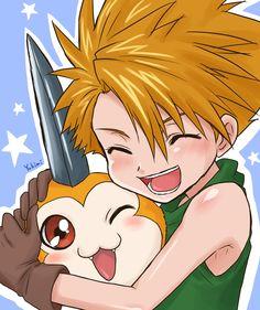 """Yamato """"Matt"""" Ishida and Tsunomon #DigimonAdventure"""
