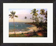 Tropical Coastline by Karen Dupre Framed Art Print Wall Picture, Espresso Brown Frame with Hanging Cleat, 23 x 19 inches Great Art Now http://www.amazon.com/dp/B00RYEBB5I/ref=cm_sw_r_pi_dp_38L4vb1FCWT8P