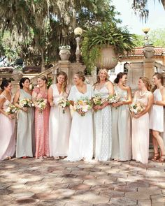Give your girls chic options for accompanying you down the aisle at your wedding.
