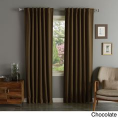 Paradise 84 Room Darkening Grommet Top Window Curtain Panel In Spice