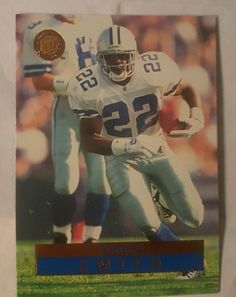 1996 Fleer Ultra Emmitt Smith #42 Dallas Cowboys in Sports Mem, Cards & Fan Shop, Cards, Football | eBay