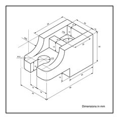Iso Drawing, Basic Drawing, Technical Drawing, Isometric Drawing Exercises, Autocad Isometric Drawing, Mechanical Engineering Design, Mechanical Design, Geometric Drawing, Geometric Graphic