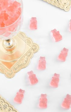 DIY Rosé Wine Gummy Bears | Sprinkle Bakes