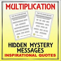 Students will love this worksheet as it allows them to use their multiplication knowledge to find a hidden inspirational quote. This is a free sample of my work and includes 2 worksheets - each providing its own quote. Would be great to use as a maths wa