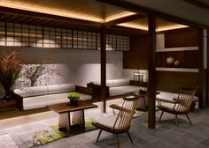 Spa lounge at the Four Seasons Kyoto by HBA Design