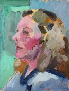 Ropsten Lady, oil on panel, Kim Scouller www.kimscouller.com