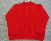Childs red sweater button through novelty buttons by JaminaRose, $26.00