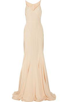 ZAC POSEN  Silk-blend stretch-crepe and chiffon gown  $2,990