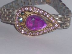 amethyst purple bracelet by PatsapearlsBoutique on Etsy, $19.99
