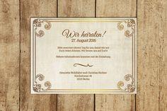 **Save-the-Date Karte zum Selberdrucken**  Hochzeitskarten zum Selberdrucken sind leicht gemacht und die perfekte Alternative, wenn es schnell gehen soll. Ihr müsst nur Eure eigenen Angaben in...