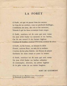 Poème de Rémy de Gourmont (1858 - 1915)